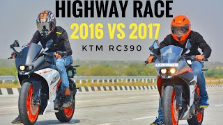 6. RACE | KTM RC 390 2016 VS 2017 | HIGHWAY RACE | TOP END RACE | AYUSH VLOGS