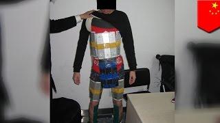 iPhoneを94台!体に巻き付け密輸未遂した香港人の男