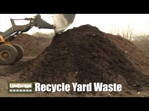 Recycling Green Organic Yard Waste