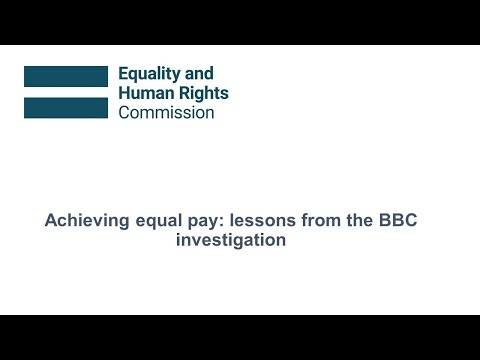 Webinar: Achieving equal pay - lessons from the BBC investigation