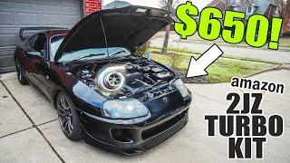 $650 2JZ Turbo kit INSTALL + FIRST START! by Evan Shanks