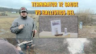 """Today we examine the 12 gauge Terminator Ammunition. This stuff is freakin BRUTAL! ** You can now support I'm with Chaos by visiting http://Patreon.com/ImwithChaos **-------------------------------------------------------------------------------------Check out ImwithChaos.com for more reviews and videos!I'm with Chaos is all about bringing you the most unbiased gun and gear reviews possible. I am a gun geek to the core and I love everything from machine guns to hunting shotguns to ammunition to accessories. Sharing as much knowledge as I can is the primary objective. If you aren't having fun while shooting, you aren't doing it right! Prepare to sit back and enjoy the show. ----------------------------------------------------------------------------------------Please Like, Share and Subscribe to get updates and see videos as soon as they come out! You can also find me on:Facebook.com/Chaos311ClarityInstagram: @Chaos311ClarityTwitter: @Chaos311ClarityMusic: """"Noise Attack"""" Kevin MacLeod (incompetech.com)Licensed under Creative Commons: By Attribution 3.0http://creativecommons.org/licenses/by/3.0/"""