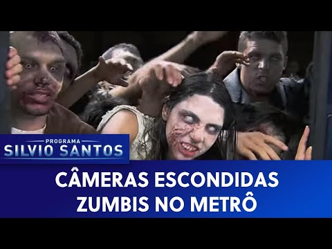 zombie train prank in brazil
