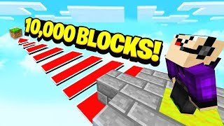 Video WORLDS LONGEST MINECRAFT JUMP! (10,000 BLOCKS) MP3, 3GP, MP4, WEBM, AVI, FLV Agustus 2018