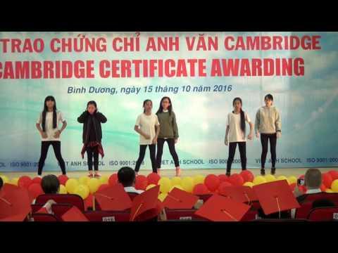 LỄ TRAO CHỨNG CHỈ ANH VĂN CAMBRIDGE - NHAY LALALA LỚP 6&7