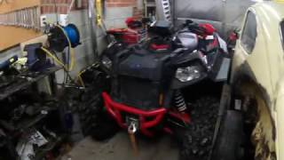 9. 2012 polaris scrambler cold start 850 xp H.O