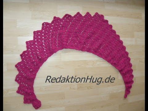 Häkeln – Schal Tuch Drachenschal Drachenschwanz (Entwurf Redaktion Hug)