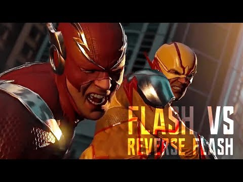 Flash Vs. Reverse Flash Fight Scene - Injustice 2