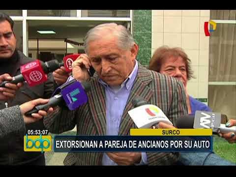Surco: extorsionan a ancianos que sufrieron robo de su vehículo