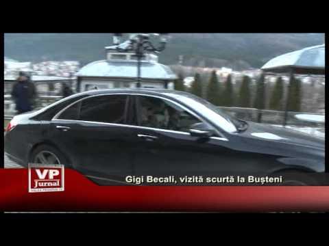 Gigi Becali, vizita scurta la Busteni