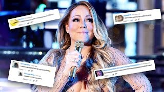 Mariah Carey New Years video comments! Mariah Carey lip syncing during her New Years Eve 2017 (New Years Rockin' Eve) performance was embarrassing, as she didn't even try to play it off. Everyone knew Mariah Carey was lip syncing, and her reaction was to start talking, saying she had no time to rehearse, and tell the crowd to sing the song for her.Yes, it is likely the fault of the music technicians for playing the wrong track for her to lip sync to, but her reaction to it was still horrible.Here are some of the funniest comments left on videos of Mariah Carey's New Years Eve 2017 lip sync fail performance.Of course, if you have no interest in looking at comments and just want to watch Mariah Carey fail at lip syncing for yourself, here you go. Any of these links should work:https://www.youtube.com/watch?v=q9Q2i_9PHU0https://www.youtube.com/watch?v=UkTy_vSPkWchttps://www.youtube.com/watch?v=Et_De5vO1_YMusic used in this video:Special Spotlightby Kevin MacLeod (incompetech.com)Licensed under Creative Commons: By Attribution 3.0 Licensehttp://creativecommons.org/licenses/by/3.0/http://incompetech.com/music/royalty-free/mp3-royaltyfree/Special%20Spotlight.mp3What do you think about Mariah Carey's lipsyncing fail at the New Years Eve 2017 / New Years Rockin' Eve performance? If you haven't seen the Mariah Carey New Years video for yourself, check the links in this description and prepare to be amazed.Comment down below with your reaction!Subscribe for more videos!