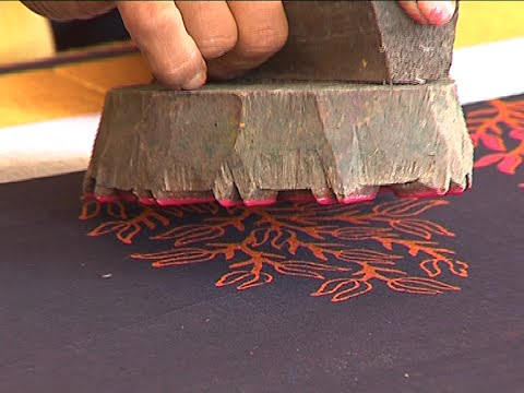 Hand Block Printing Procedure and Block Printed Sarees