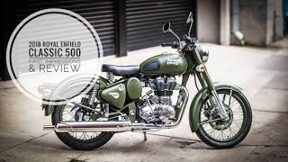 1. 2018 Royal Enfield Classic 500 | Euro 4 ABS Battle Green | First Impressions and Review
