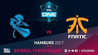 NewBee vs Fnatic, ESL One Hamburg [GodHunt, Dead_Angel]