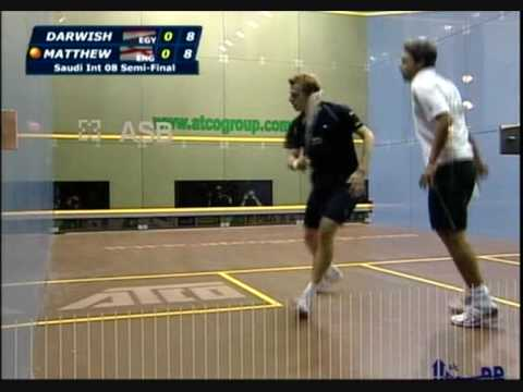Squash – Karim Darwish vs Nick Matthew Saudi International 2008 Part 1