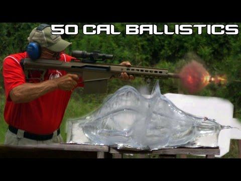 BARRETT .50 CAL vs. BALLISTICS GEL! 50 BMG ballistics testing in SUPER SlowMo (4K)