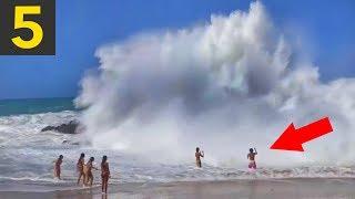 Video Top 5 SCARY Beach Waves - Run! MP3, 3GP, MP4, WEBM, AVI, FLV Desember 2018
