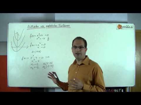 einfache Nullstellen einer quad. Funktion