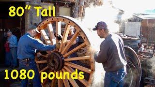 Video 1,080 lb Wood Wheels; Borax Wagons | Massive Wheelwright Work MP3, 3GP, MP4, WEBM, AVI, FLV September 2019