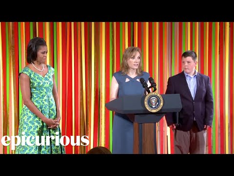 epicuriousdotcom - The Kid's State Dinner! Epicurious and Michelle Obama salute 54 of America's top junior chefs in a fun-packed celebration in Washington, D.C..
