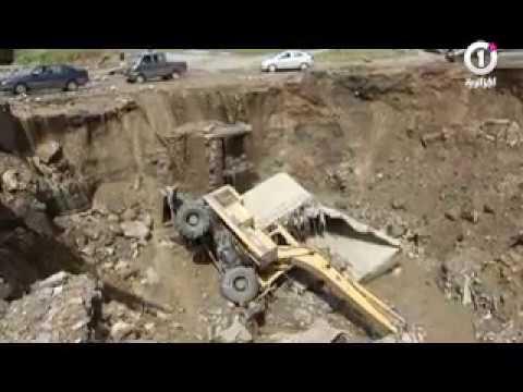 فيديو : قتيل وخسائر مادية كبيرة في فيضانات سطيف