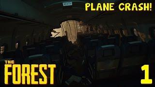 PLANE CRASH! | The Forest [Survival] | Episode 1