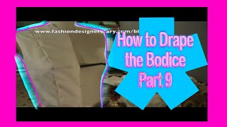 how to drape a bodice part 9