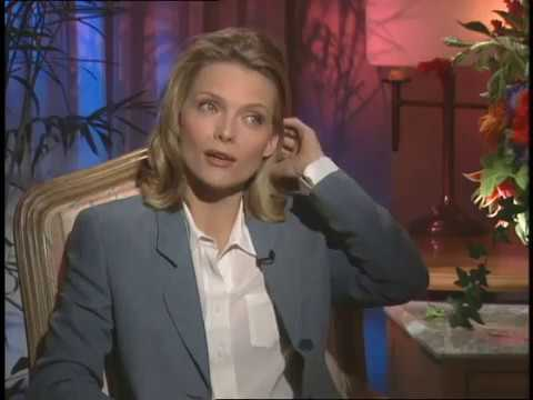 Michelle Pfeiffer talks with Jimmy Carter for One Fine Day
