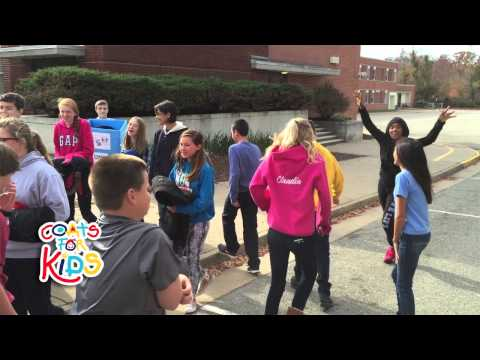 Coats For Kids 2014 visits Midlothian Middle