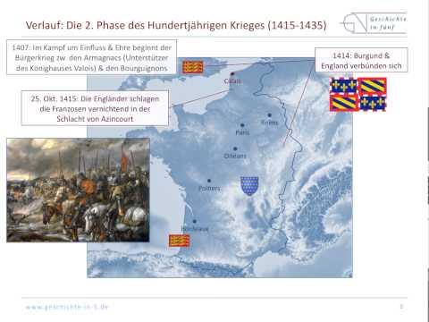 Hundertjähriger Krieg zwischen England und Frankreich ...