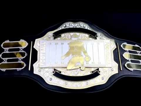 The Fantasy Football Belt MVP Custom Championship Title Award Trophy Ring