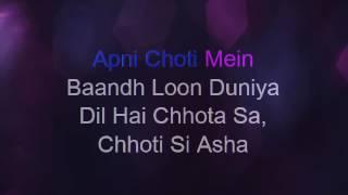Video Dil Hai Chhota Sa - Karaoke download in MP3, 3GP, MP4, WEBM, AVI, FLV January 2017