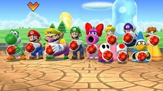 Mario Party 9 - Gomba Bowling & Other Minigames (Wario Gameplay)| Cartoons Mee