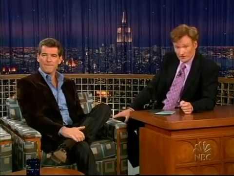 Conan O'Brien 'Pierce Brosnan 11/11/04