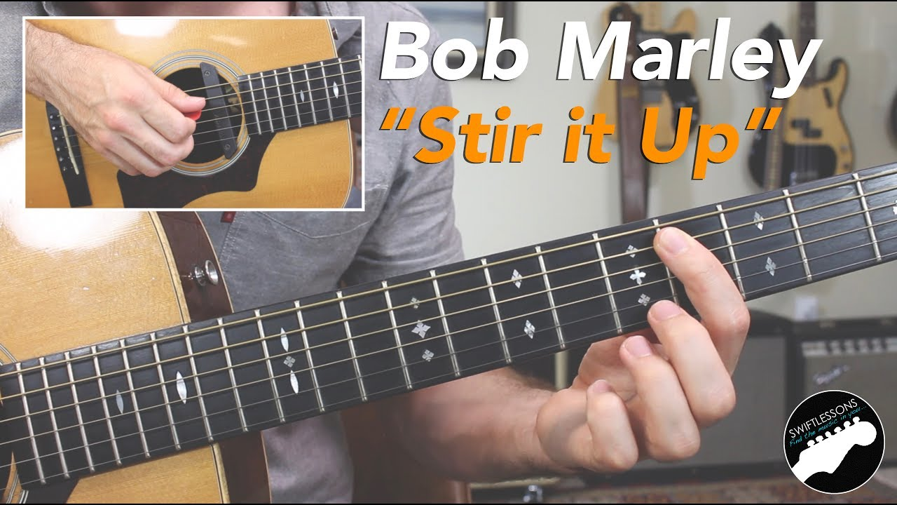 "Bob Marley ""Stir it Up"" –  Easy Beginner Guitar Songs Lesson"