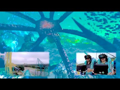 FULL POV Kraken Unleashed VR roller coaster experience at SeaWorld Orlando