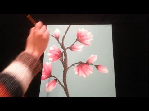 flower painting - Join Amy on facebook here: http://www.facebook.com/herartfromtheattic Follow Amy on Instagram! @herartfromtheattic Amy Pearce of www.herartfromtheattic.blogs...