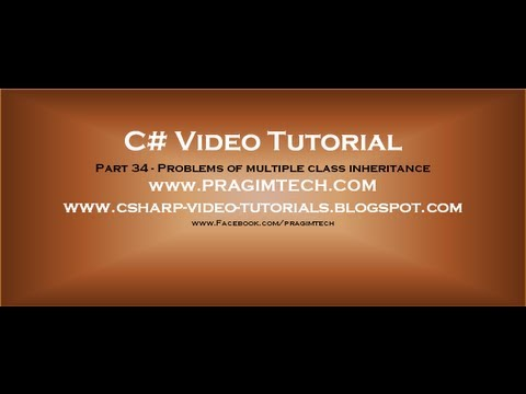 Part 34 - C# Tutorial - Problems Of Multiple Class Inheritance.avi