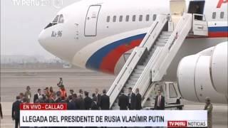 Presidente Putin llegó a Perú para foro APEC 2016
