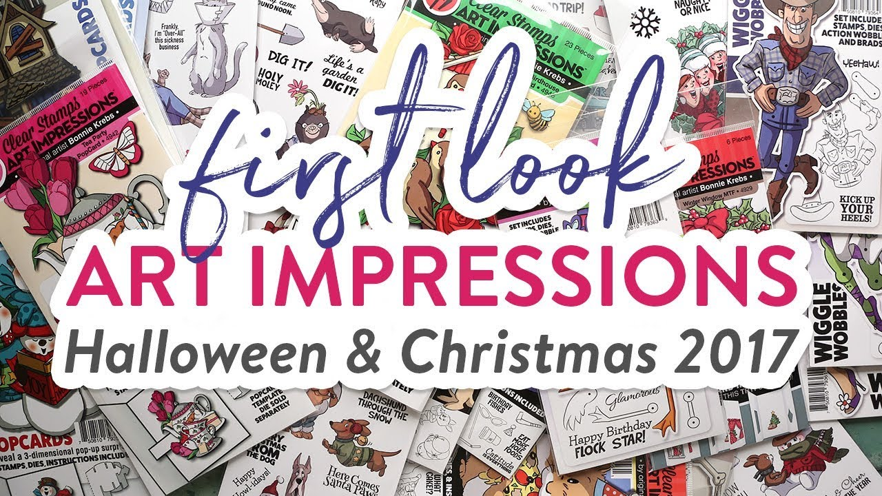 Picture of Initially Glance  Fresh stamps against Artwork Impressions  Halloween  Xmas 2017
