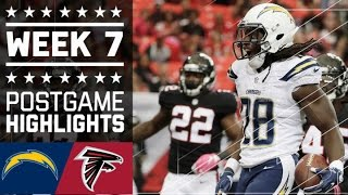 Chargers vs. Falcons (Week 7) | Game Highlights | NFL by NFL