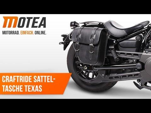 Craftride Custom Motorrad Satteltasche Texas   Anbauvideo