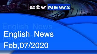 English News Feb,07/2020 |etv