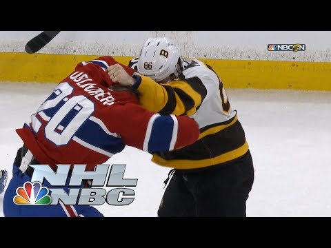 Video: Bruins' Kevan Miller, Canadiens' Nicolas Deslauriers fight at center ice | NHL | NBC Sports
