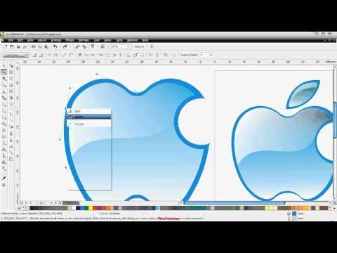 logo apple kartu nama mp4 belajar corel draw flv tutorial coreldraw