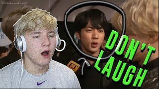 "Video JIN IS MY WEAKNESS | BTS ""You Laugh = You Lose"" Challenge [Ultimate Version] *REACTION* 