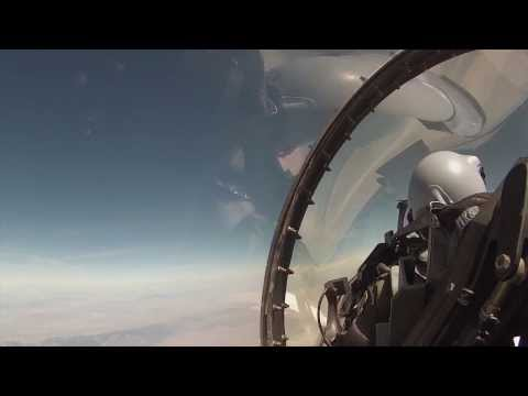 F-16 and F-15 fighter jets participate...