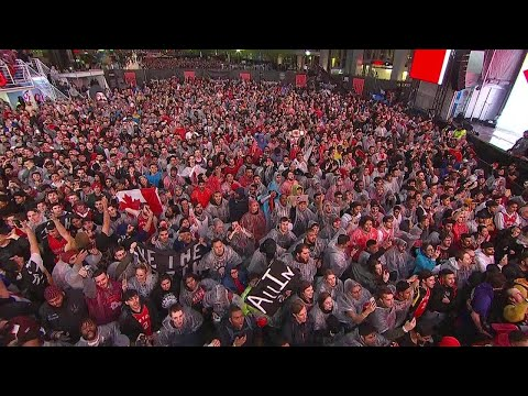 Raptors fans sing O Canada ahead of Game 5 of NBA Finals