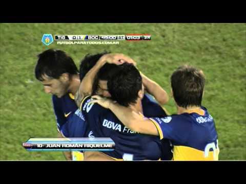 Gol de Riquelme. Tigre 0 - Boca 1. Fecha 15. Torneo Final 2014. FPT
