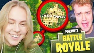 GIRLFRIEND CHOOSES WHERE WE LAND!! - Fortnite: Battle Royale